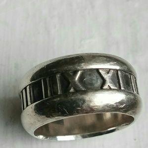 Tiffany Atlas Roman Numerals  925 SS Ring